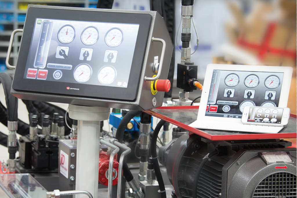 Écran digital banc didactique hydraulique