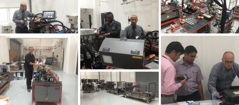 Mise en route de bancs didactiques hydrauliques DEWA à Dubaï