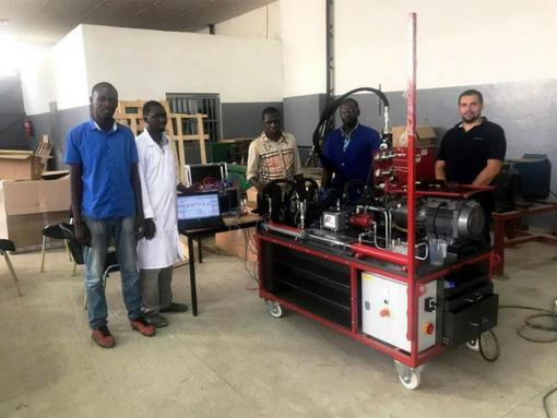 Mise en route banc didactique au Sénégal