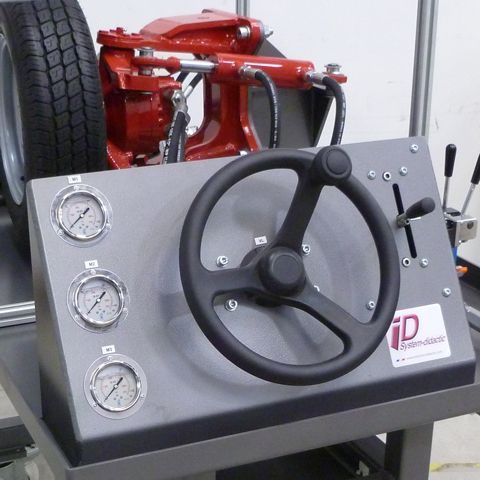Steering wheel and control joystick of the hydrostatic wheel motor
