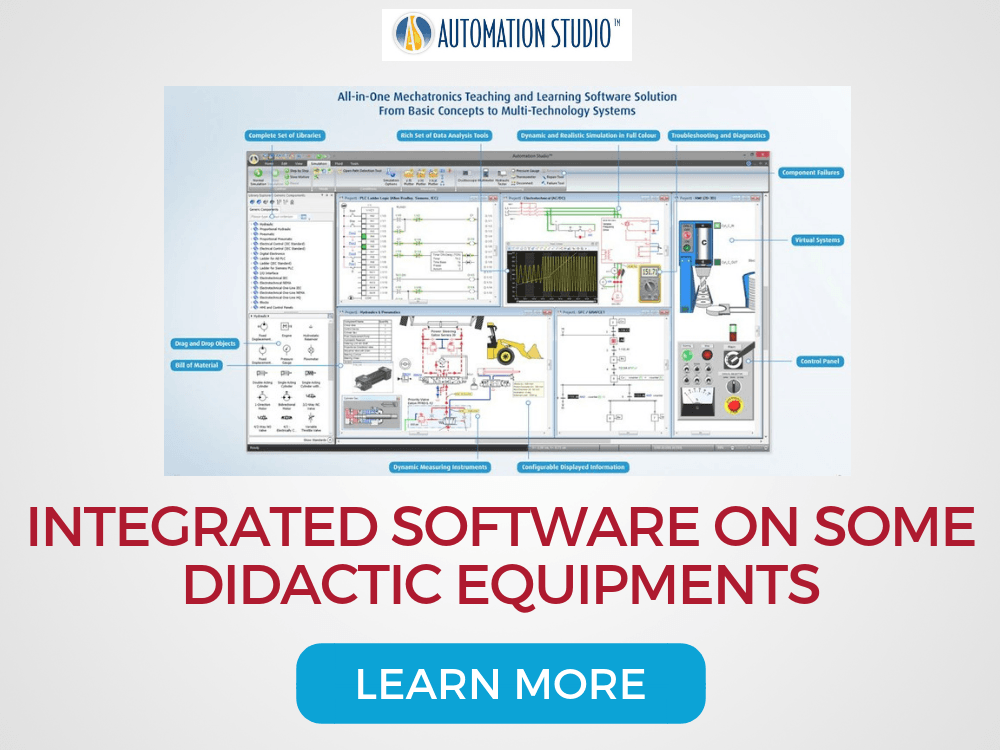 Integrated software on some didactic equipments