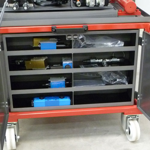 store of hydraulic components