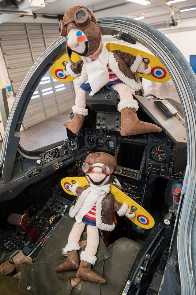 Mascotte dans un avion mirage 2000