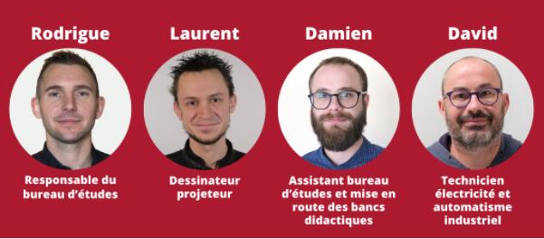 équipe du bureau d'études d'ID System Didactic